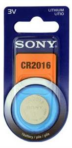 Blister 1 pila Sony CR2016 Litio ( 20 d . x 1.60 alt . ) 3 v .  72 mAh .