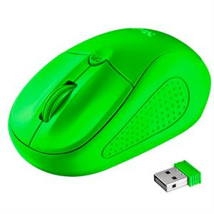 Raton inalambrico Trust 21922 Primo ,  neon green wireless mouse , verde .
