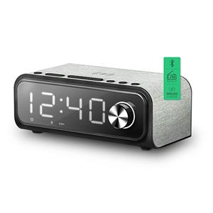 Altavoz bluetooth reloj despertador Energy Clock Speaker 4 10 W/ Qi Charger/ FM Radio/ USB/microSD