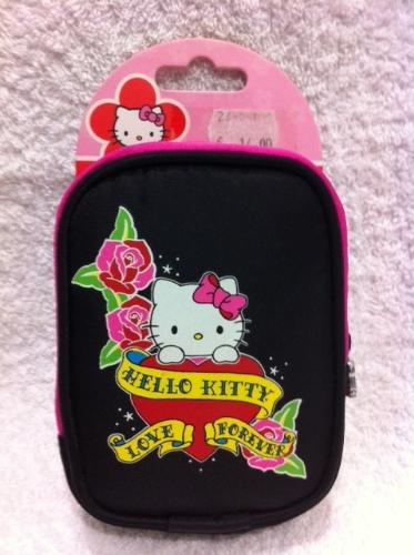 HELLO KITTY FUNDA NEGRA/ROSA VERTICAL