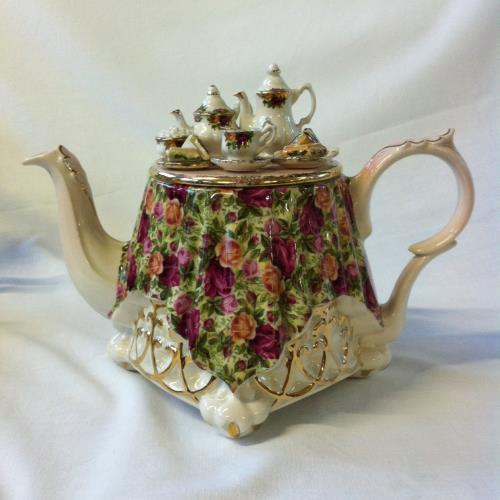 Royal Albert tetera mesa grande Old Country Roses: Chintz Collection
