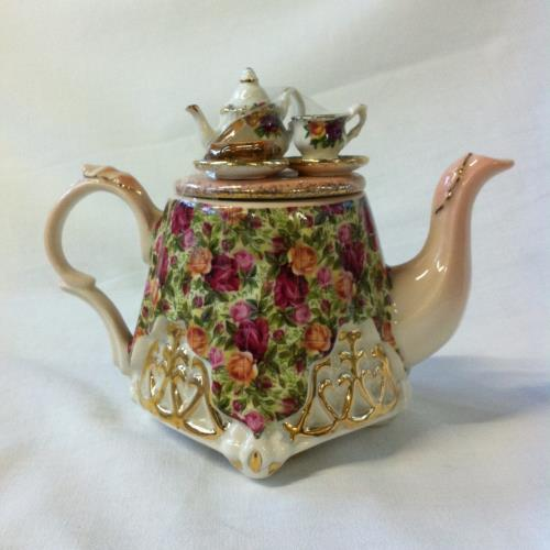 Royal Albert tetera mesa pequeña Old Country Roses: Chintz Collection
