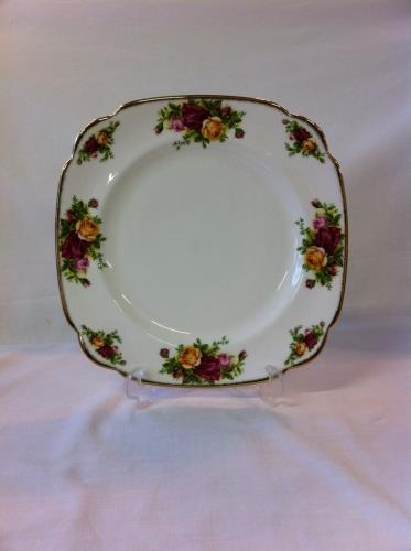 Royal Albert plato cuadrado 24,5cm Old Country Roses