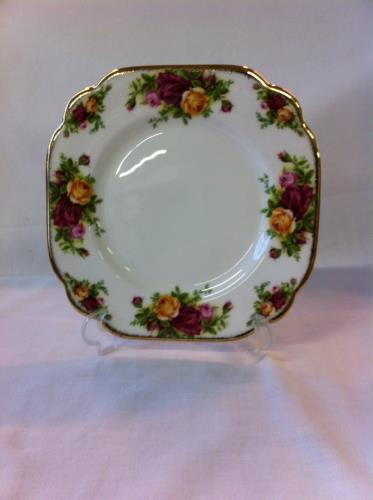 Royal Albert plato cuadrado 20cm Old Country Roses